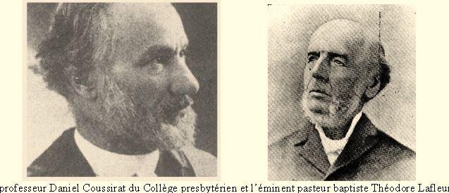 Ms Coussirat et Lafleur professeurs protestantes françaises - Montréal Québec