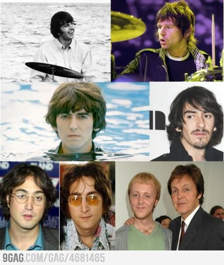 The beatles... and their sons.