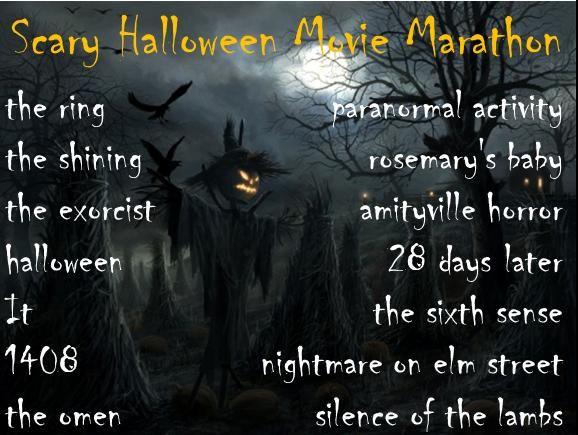 scary Halloween movie marathon