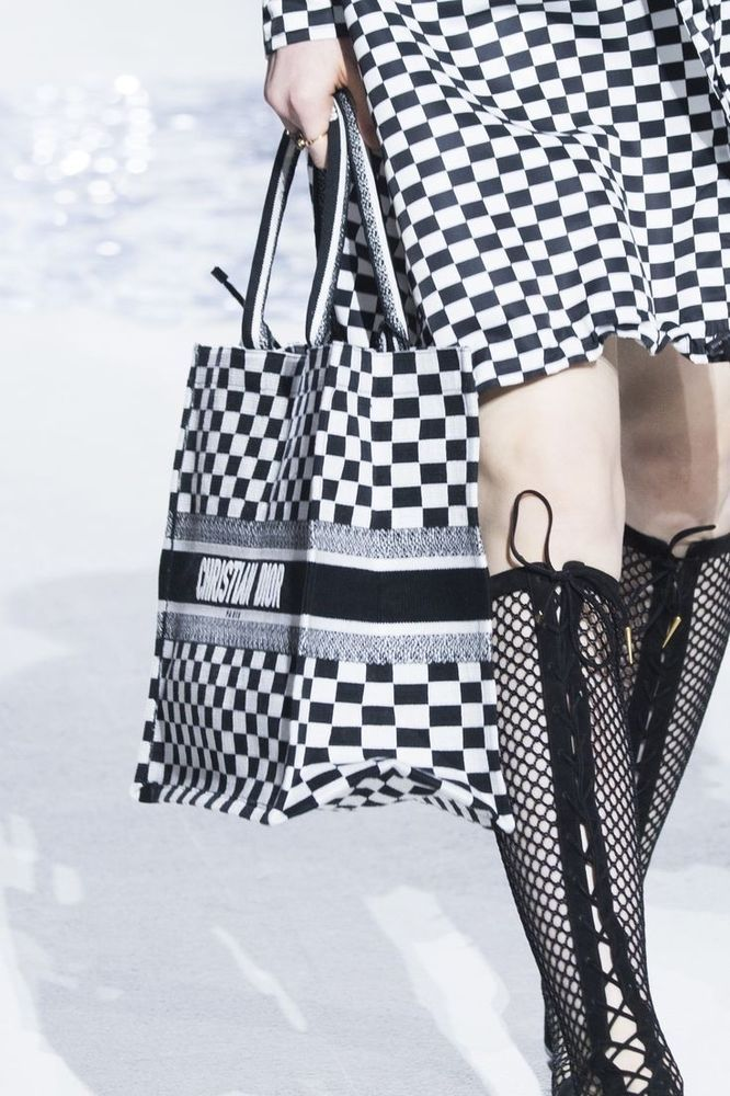 1b16d533ff2a MOST WANTED 2018 CHRISTIAN DIOR CHECKERED BOOK TOTE CANVAS OBLIQUE BAG   fashion  clothing