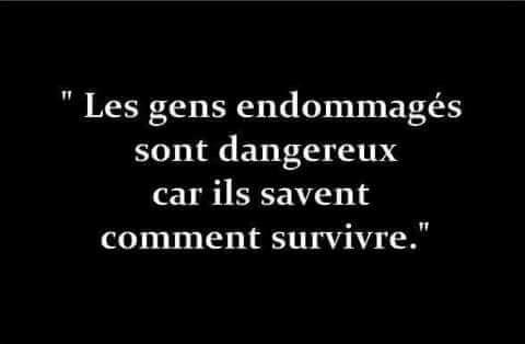 Les gens endommagés sont dangereux car ils savent comment survivre