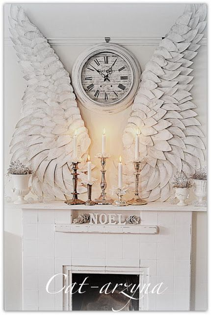 DIY- so breathtaking and shabby chic | wings made out of paper plates | Cat-arzyna  #holidays #christmas_decoration