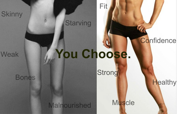 Skinny vs. Fit   Motivation   Pinterest   Skin And Bones ...  Obese Vs Anorexic