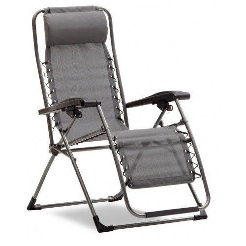 New Strathwood Basics Anti-Gravity Adjustable Patio Garden Recliner Chair, Gray #Strathwood