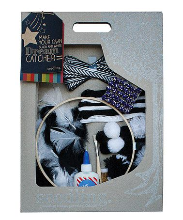 Look at this #zulilyfind! Make Your Own Black & White Dream Catcher Kit #zulilyfinds