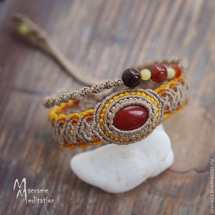 Магазин мастера Плетеные браслеты с камнями.Татьяна: браслеты