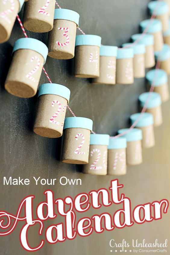 Make Your Own Advent Calendar - this could also work with recycled pill bottles covered with scrapbook paper.