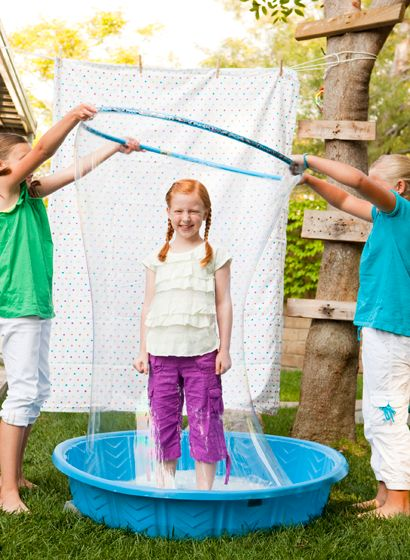 birthday party idea~: Human Bubble, Birthday, Craft, For Kids, Giant Bubbles, Hula Hoop, Summer Activities, Summer Fun, Party Ideas