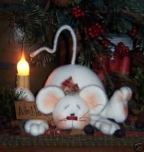 Primitive Christmas Patterns | Primitive Christmas Mouse Shelf Doll Ornie Pattern 549 | eBay