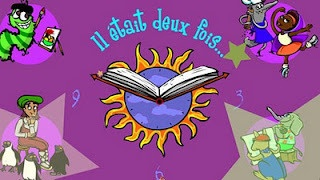 4 interactive stories. Le vilain petit ver, Pierre et ses souliers magiques, Le petit Chaperon mauve et Les trois petits kangourous.    Students can listen to the story and add details to the pictures. They can even print their creations. Click on the link http://tfo.org/jeux/deuxfois/homepage.html to check this out!