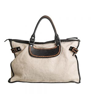 Galliota Canvas and Leather Bag By Malene Birger (seen on http://followstudio.blogspot.com.es )
