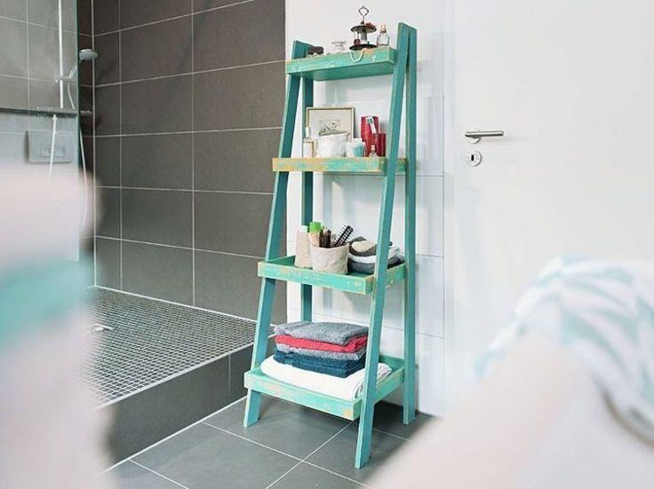 DIY tutorial: Make A Tiered Bathroom Shelf via DaWanda.com