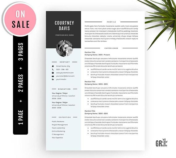 3 Pages Resume Template - Professional CV Template - for ...