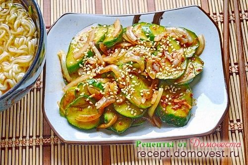 Самый простой рецепт огурцов по-корейски
