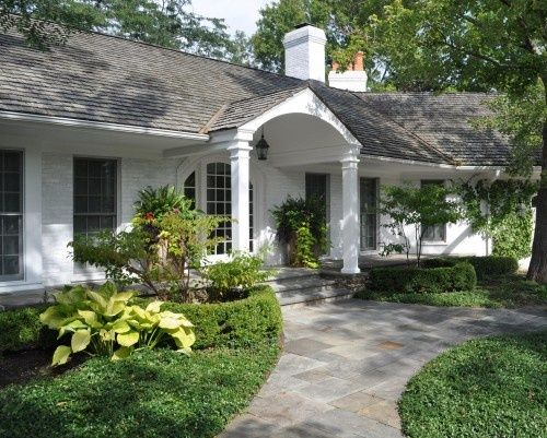 painted brick ranch houses before and after - Google Search