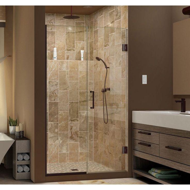 DreamLine Unidoor Plus 39 in. Min to 39.5 in. W Max x 72 in. H Hinged Shower Door