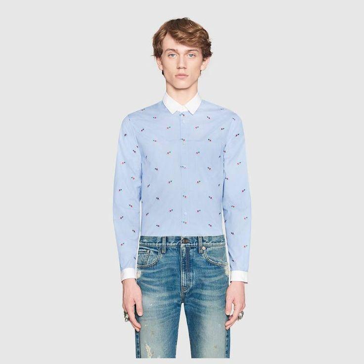 Gucci Pierced heart fil coupé Duke shirt  Detail 3