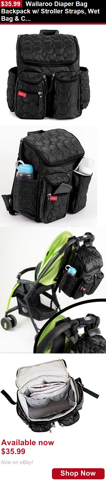 Baby Diaper Bags: Wallaroo Diaper Bag Backpack W/ Stroller Straps, Wet Bag And Changing Pad BUY IT NOW ONLY: $35.99