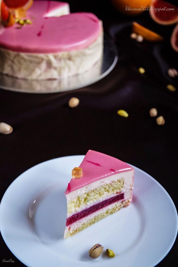 "Вкусно жить не запретишь! : Торт ""Грейпфрут - малина"""