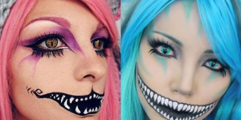 Cheshire Cat Makeup - Cheshire Cat Alice In Wonderland Halloween Makeup Tutorial