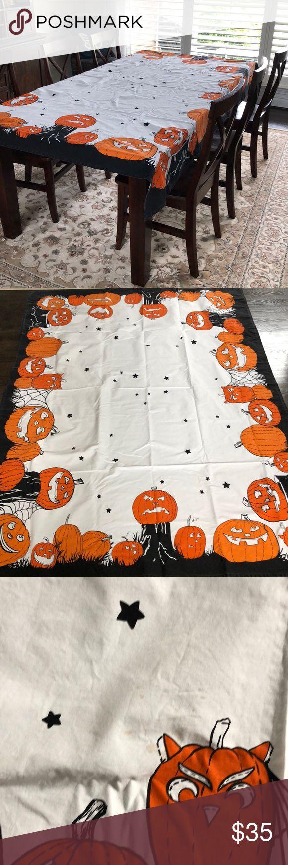 "Pottery Barn Kids Halloween table cloth 70""x90"" (With"