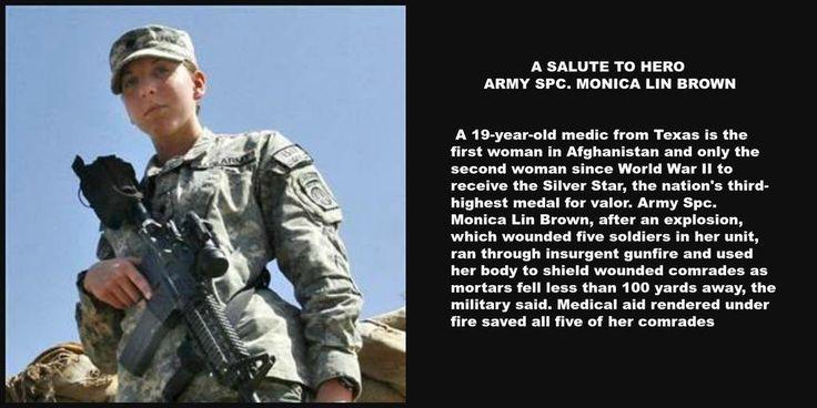 ARMY SPC. MONICA LIN BROWN received Silver Star -Afghanistan #WarriorWednesday #TCOT #PJNet #RedNationRising