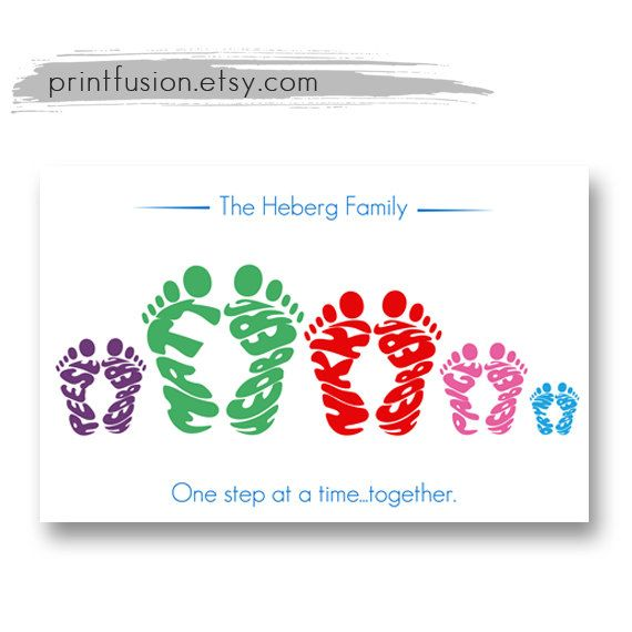 38 best gifts newborn baby for mom dad grandparents images on personalized family name footprints with pets by printfusion 2700 fathers day giftsmother negle Images