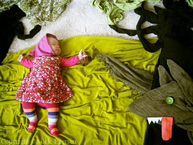 'When My Baby Dreams' by Adele Enersen        Incredibly creative mom who used everyday household items to make backdrops for photos of her daughter while she naps.