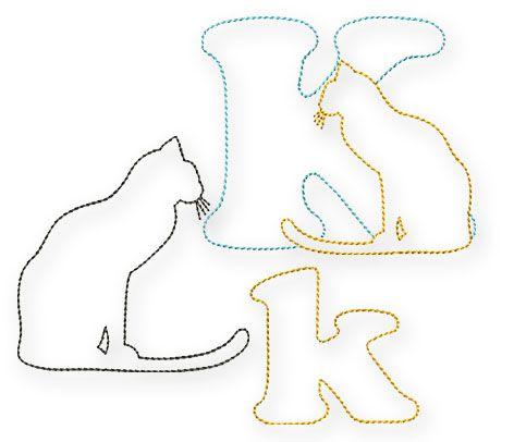 Natürlich steht für das K sofort fest, welches Tier ich dazu digitalisieren werde, eine Katze. Ich bin ein ausgesprochener Katzenmensch, ich liebe Katzen und 2 dieser schönen Exemplare leben in unserem Haus und erfreuen uns durch ihr bloße Anwesenheit.  Also wird es nun für Euch das K samt Katze geben. Ich habe mich diesmal für die eher schlichte Variante entschieden, nur die Konturen lassen ...