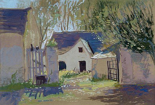 """Clos, Baile M' Earnan (Farmyard, Mornington, Drogheda)"" by Bea Orpen HRHA, Crawford Art Gallery, Cork, Ireland"