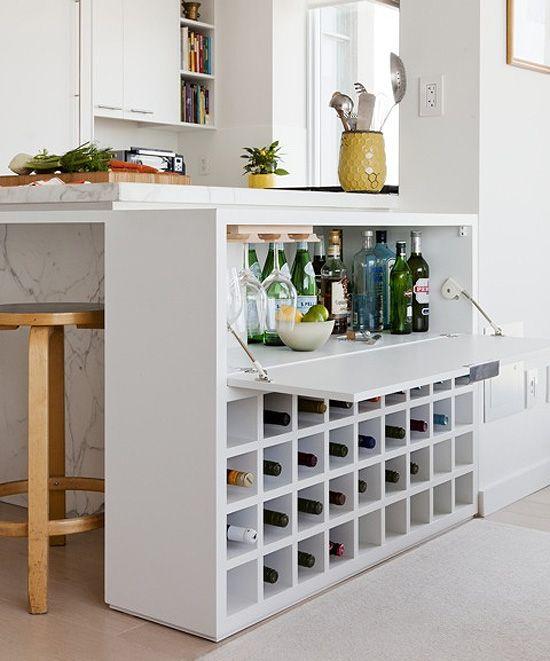 Built in wine storage, love!