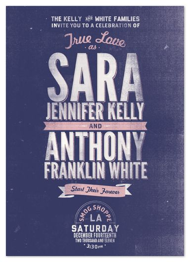 Santa Monica Modern - Adorable blog post of save the dates/wedding invites