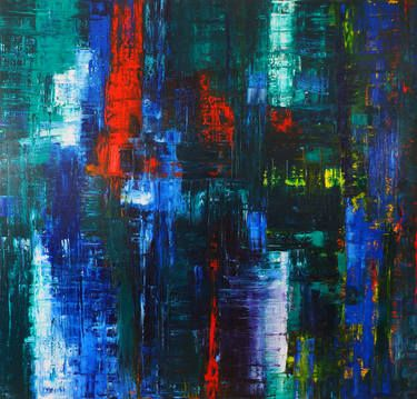 Reflection n°4 : Blue, Green, Red, Yellow 2014 Oil on Canvas 2m x  1.9m