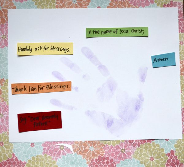 Five Parts of a Prayer Craft for Kids