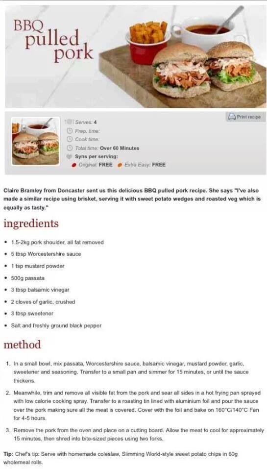 BBQ Pulled Pork :) (slimming world bbq ideas)