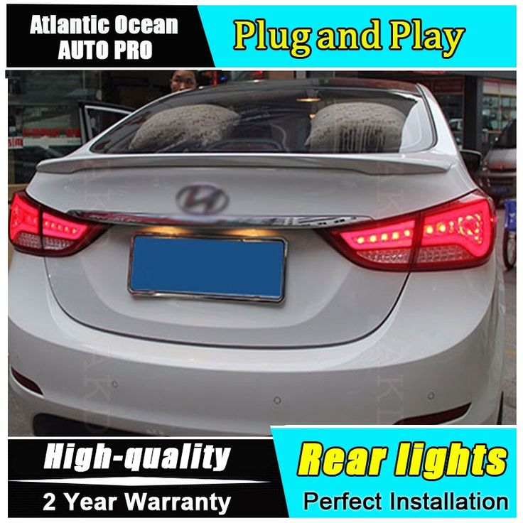 258.95$  Buy here - http://aliw2p.worldwells.pw/go.php?t=32666355516 - A&T Car Styling for Hyundai Elantra Taillights BMW Design New Elantra LED Tail Lamp Rear Lamp DRL+Brake+Park+Signal led lights 258.95$
