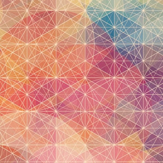 Free Colorful Geometric Wallpaper: Structured Line Over Morphing Color