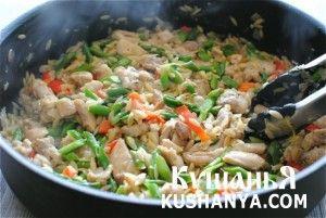 Ризотто с курицей и овощами   Kushanya.Com