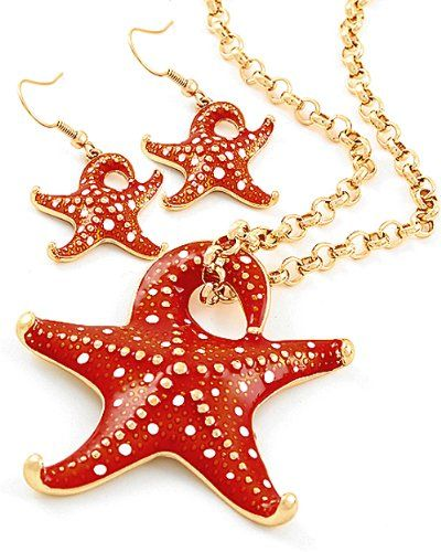 #Goldtone #Red #Starfish #Pendant #Necklace and #Earrings Set #Fashion #Jewelry http://www.mysharedpage.com/goldtone-red-starfish-pendant-necklace-and-earrings-set-fashion-jewelry $29.99