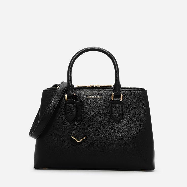 CHARLES & KEITH  Black Basic Large Handbag