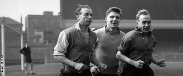 Stanley Matthews, Duncan Edwards and Bill Wright