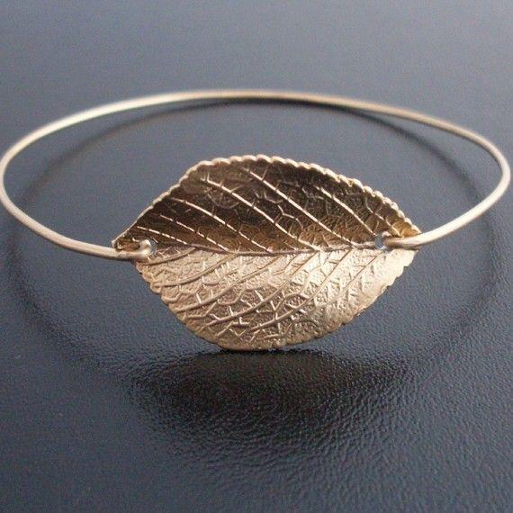 Autumn Leaf Jewelry - Gold, Fall Jewelry, 2013 .