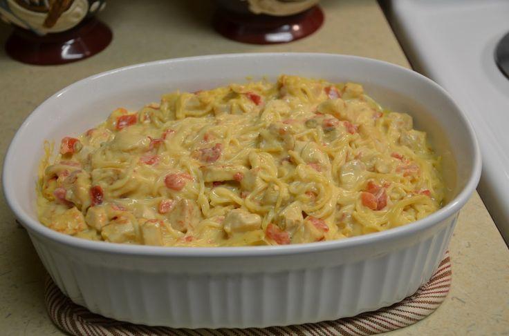 Easy Rotel Chicken Spaghetti Recipe | Kim's Korner: Rotel Chicken Spaghetti