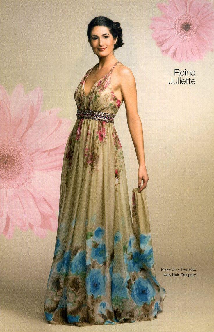 Vestido con estampas floreadas muy delicadas.