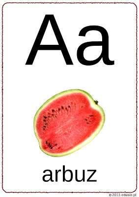 alfabet z obrazkami - litera a