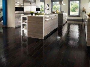 Black wood floor paint for kitchen