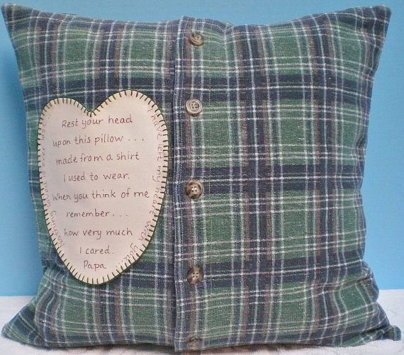 Man S Memory Pillow Slipcover Only Made From Shirt Of