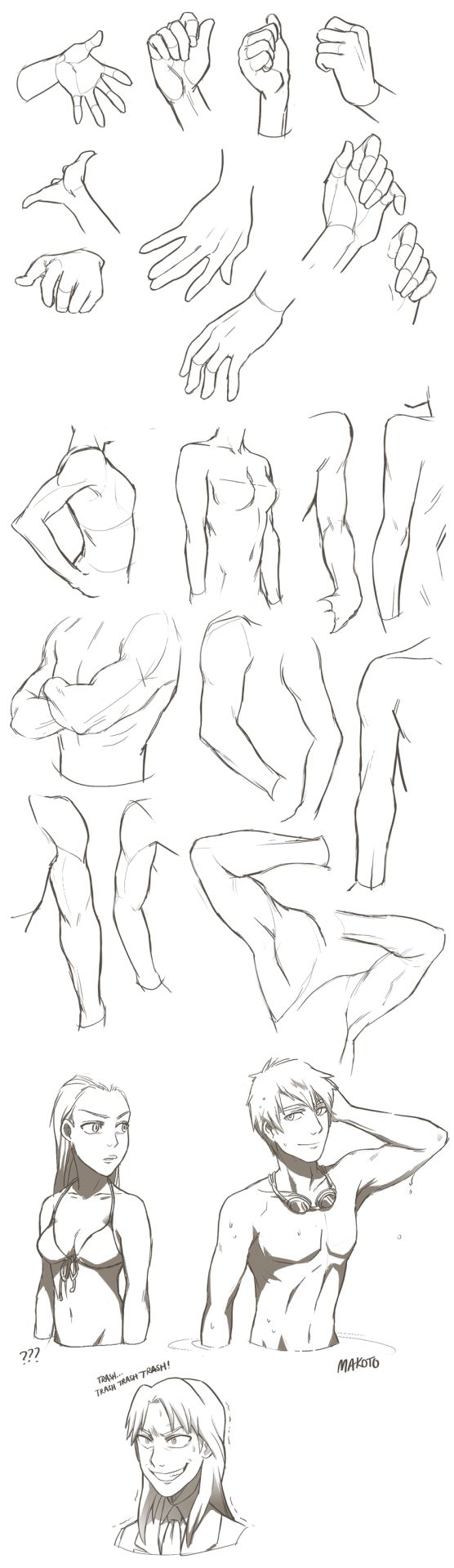 Studies/Swimsuits/Ichijou by YanYu  http://artist-refs.tumblr.com/tagged/crossed+arms?og=1