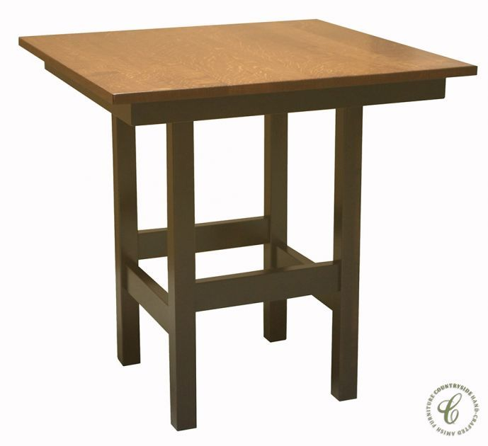 Captivating Amish Handmade, Our El Camina Bar Table Is Solid Wood, Square, Sturdy,