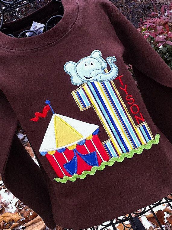 Boys Carnival Themed Birthday Shirt On Chocolate Shirt